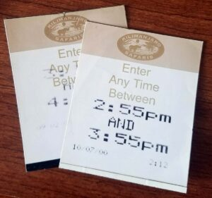 FastPass Return Ticket - Safari - 2000