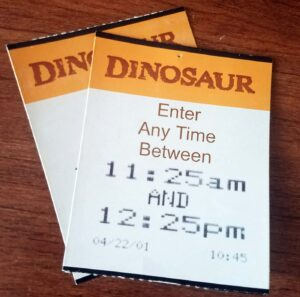 FastPass Return - Dinosaur - 2001
