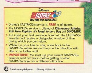 FastPass 2001 - DAK Map Details