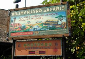 Safari FastPass Distribution Signs