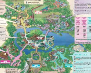 Disney's Animal Kingdom 2001 Map