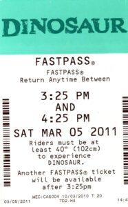 Dnosaur FastPass 2011
