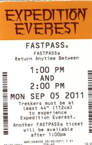 Expedition Everest FastPass 2011