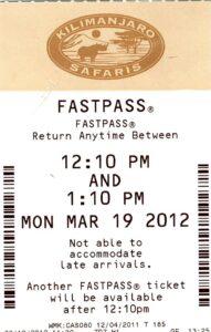 Kilimanjaro Safaris FastPass 2011
