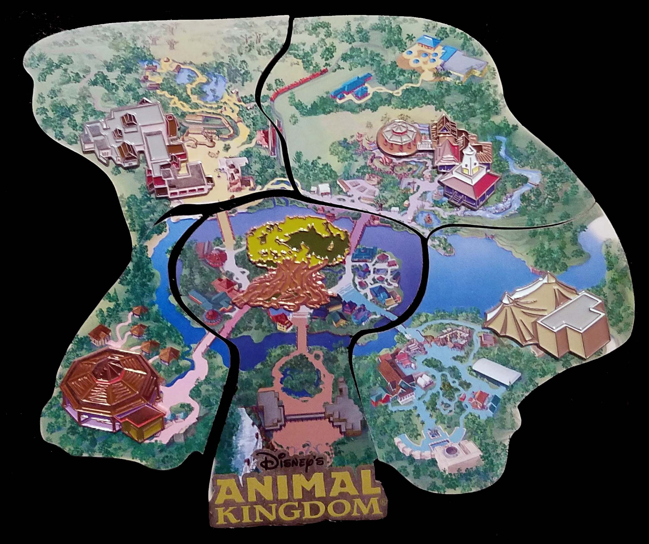 Disney\'s Animal Kingom Atlas Map Pin - Discovery Riverboats