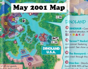 May 2001 Dinoland Map