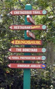 Dinosaur Jubilee Directional Sign