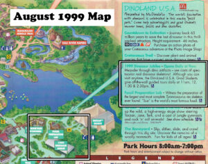 Disney's Animal Kingdom 1999 Map Dinoland
